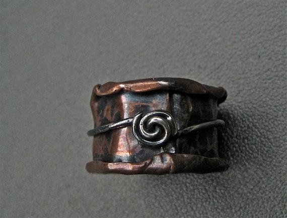 Copper Ring  Mixed Metals  Flow