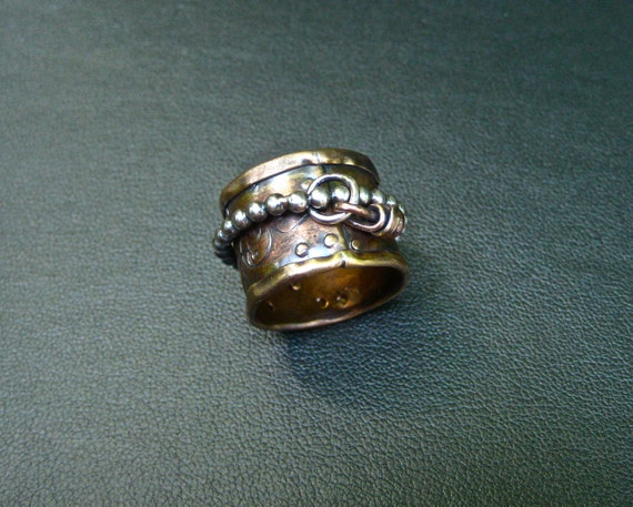 Mixed Metal Spinner Ring  Charmed Reserved for S