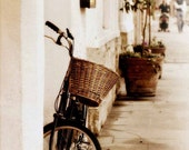 """Fine Art Photography-Bicycle Photography- Sepia Tone Photography -8x8 Print- """"All of My Life I'm Walking Home With You"""""""