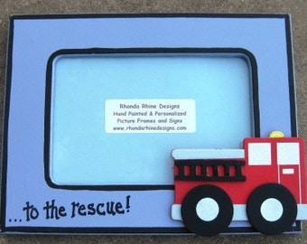 4x6 Fire Truck Picture Frame