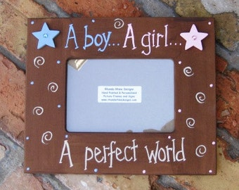5x7 A boy..A girl..picture frame