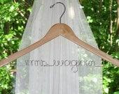 Premium Wooden Personalized Bridal Hanger - Custom Bride's Wedding Dress Hanger, Personalized Bridal Gift