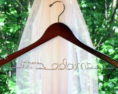 Personalized Custom Brides Wedding Dress Hanger - Suspended Moments