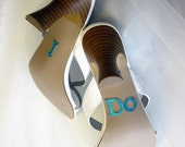 I Do Wedding Shoe Applique Stickers - Tiffany Blue - Suspended Moments