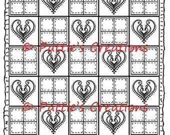 Quilt With Hearts 1