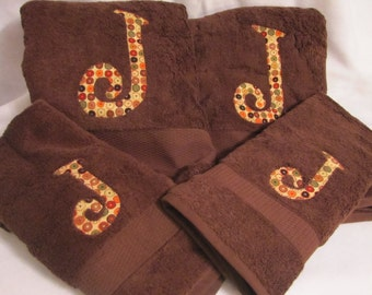 Back to School Monogrammed Set of 2 Towels and 2 Hand Towels