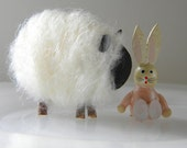 Fuzzy Yarn Sheep (set of 2)