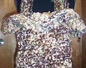 Frilly Crocheted Tote