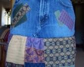 Denim And Upholstery Skirt