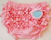 Baby Bloomers Pink Baby  Bloomers With Cute Ruffle