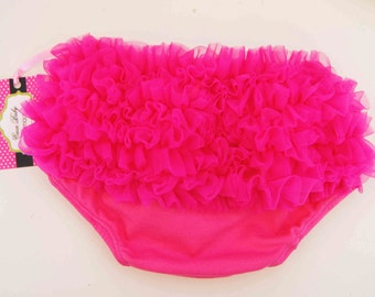 HOT Pink Color  Bloomers With Soft Ruffle