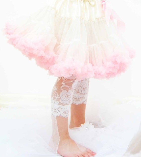 Luxury Soft  White Lace Leggings for Toddler