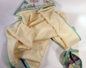 Nursery Rhyme Toile bath set with hooded towel and wash cloth