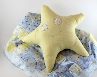 Sleepy Star baby quilt and toy