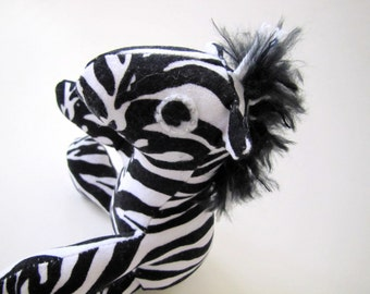 Stuffed Animal: Black and White Striped Baby Zebra