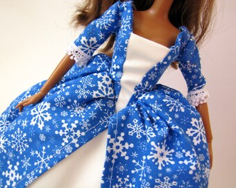 Barbie dress: Holiday Snowflakes