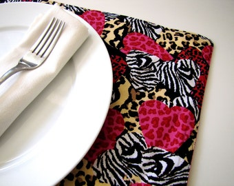 Pair of Reversible Placemats: My Wild Valentine