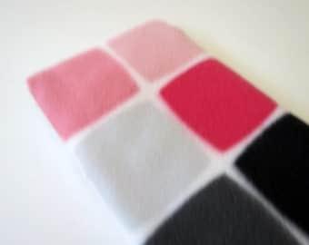Geometric Pink, Grey and Black baby burp rags or burp cloths
