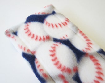 Baseball fleece baby burp rags or burp cloths