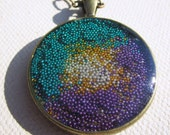 Glass and Resin Pendant in Amethyst