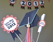 Graduation Party Decorations Centerpiece - CUSTOM Words and Colors 3-pieces and TWO SIDED