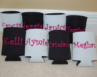 Monogrammed Custom Can Cooler Insulator all colors instock --FAST TURNAROUND--