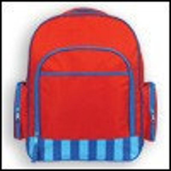 Clearance Sale--Monogrammed Simply SJ Stephen Joseph Red and Blue Kid's Backpack --Fast Turnaround--FREE MONOGRAMMING--