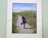 Digital Art Print Path to the Beach 8x10 matted to 11x14