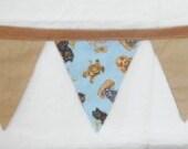 Puppy Dog Bunting Baby Nursery 10 Ft Brown Blue Fabric Garland Banner