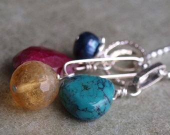 Interchangeable Turquoise Charm Pendant