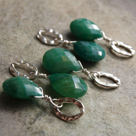 LAST CHANCE Juicy Emerald Briolette Charm Pendant