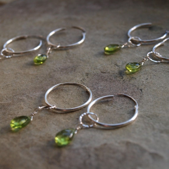 Peridot Earring Charms- Create Your Own Interchangeable Earring Charms