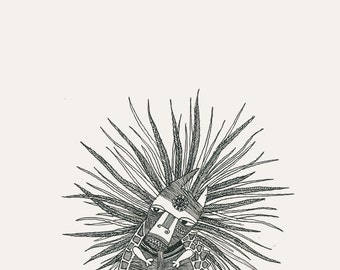 beautiful ink illustration