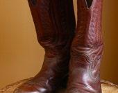 Vintage Mens Pecan Color Cowboy Boots Size 8- RECENTLY REDUCED