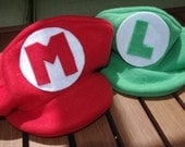 Mario and Luigi Combo Pack- 1 Mario and 1 Luigi Inspired Hat