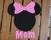 Perfect Fit Iron On - Mickey/Minnie Mouse Inspired Applique with Personalization - 3 Sizes Available