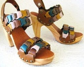 SALE Handmade Clog Shoe Lacey Link  Karen Kell Collection