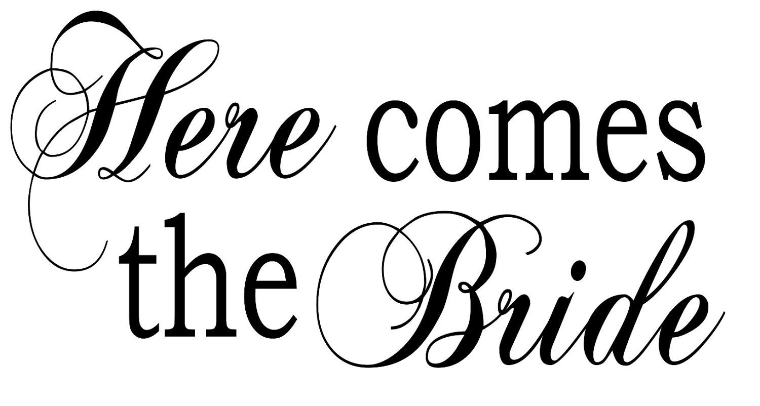 Here Comes The Bride Vinyl Lettering For Diy By Crazygirlblond