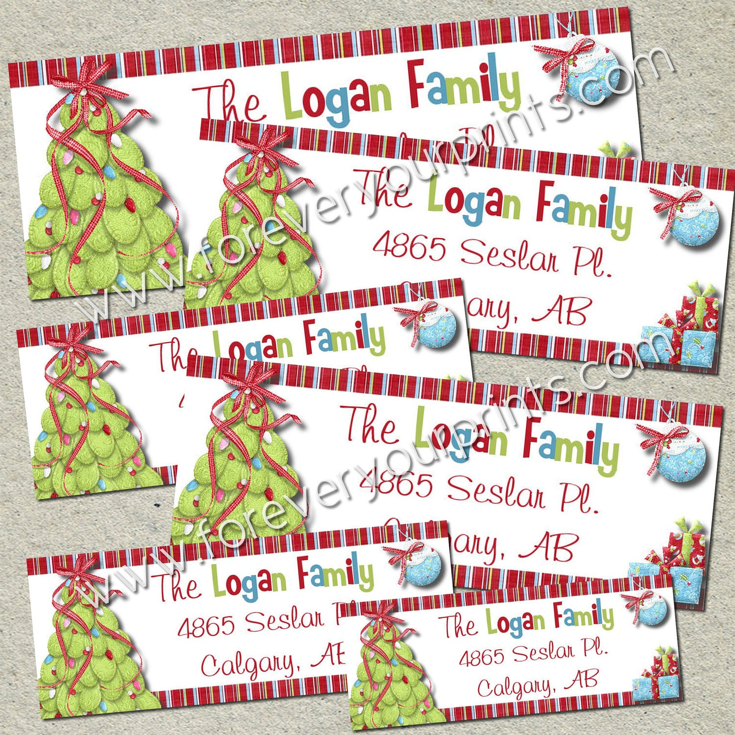 This is an image of Tactueux Free Printable Address Labels Christmas