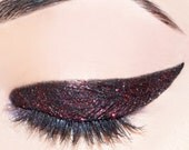 Queen of Hearts - Black With Ruby Red Glitter - Carina Dolci Mineral Eye Candy Shadow VEGAN