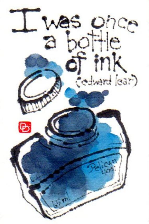 SALE: I Was Once a Bottle of Ink