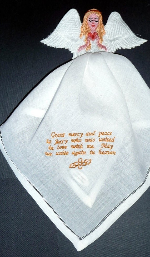 Items similar to prayer angel bereavement hanky your