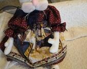 Primitive Patriotic Rabbit Folk Art Doll