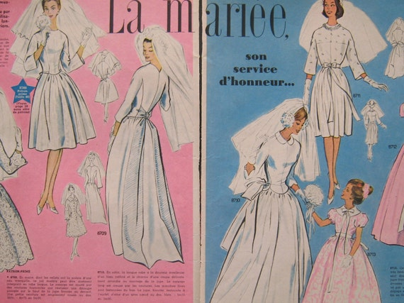 Wedding in the 60s - Wedding dresses- fashion drawings