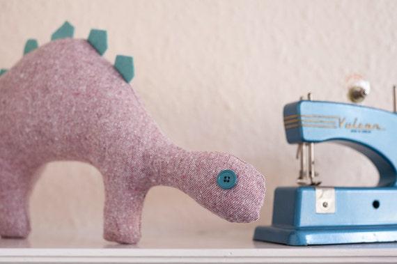 Pink & Soft Green Dinosaur Plush Toy