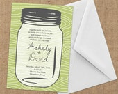 Invitations - Mason Jar - DIY Printable