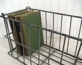 RESERVED FOR NEKHAT Vintage Metal Wire Crate