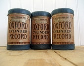 Antique Oxford Record Cylinders Lot of Three