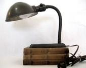 Vintage Gooseneck Desk Lamp Art Deco
