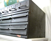 Vintage Machinist Cabinet Equipto Gray Metal Industrial